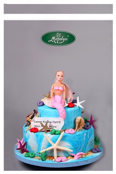 #manolyapastanesi #patisserie #istanbul #cake #cakedesign #mermaid #barbie #blue #yummy #delicious