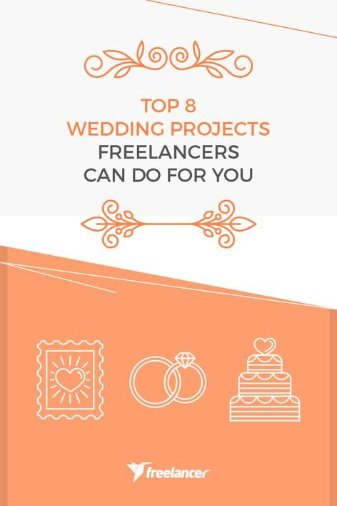 Top 8 Wedding Projects Freelancers Can Do for You  #wedding #weddings #weddingthemes #freelancer #freelancing #weddinginspiration