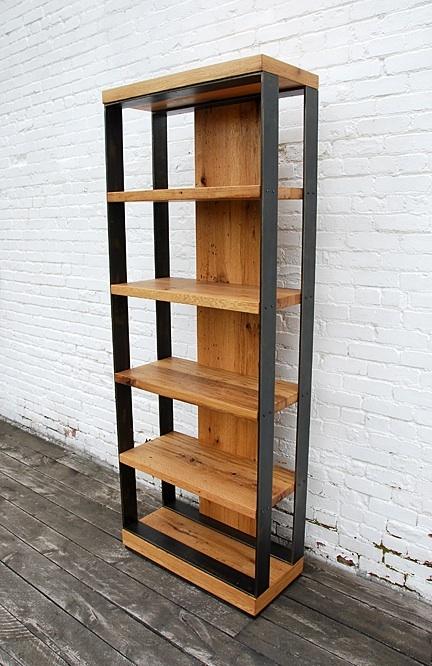 Layered Book Shelf, white oak
