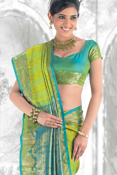 Love This Color Combination Indian Sarees