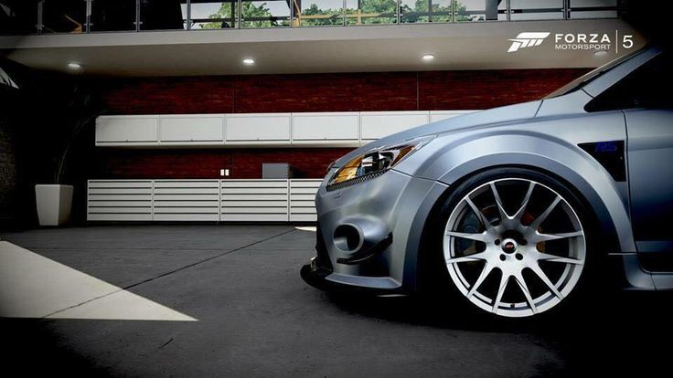 grey ford focus rs ii mk2 tuning low suspension big rims. Black Bedroom Furniture Sets. Home Design Ideas