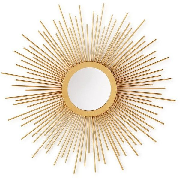 home design studio small sunburst mirror found on polyvore blue and gold home design ideas pictures remodel and decor