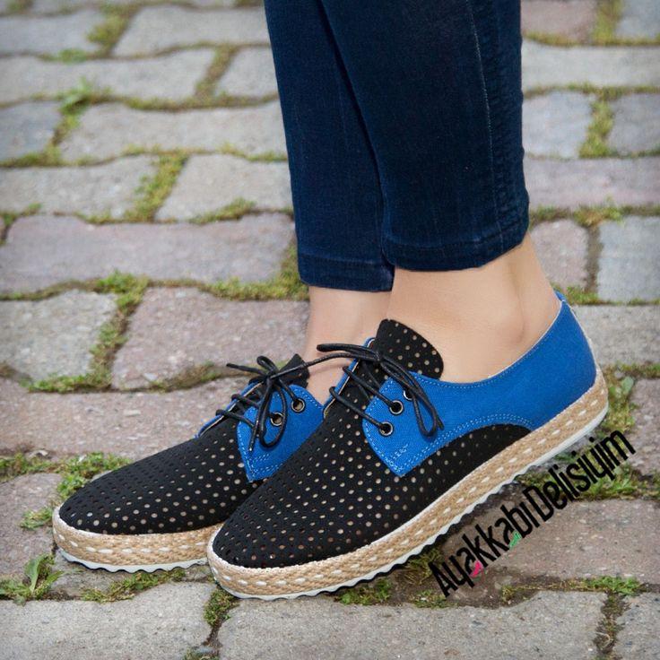 Siyah Saks Mavisi Spor Ayakkabı