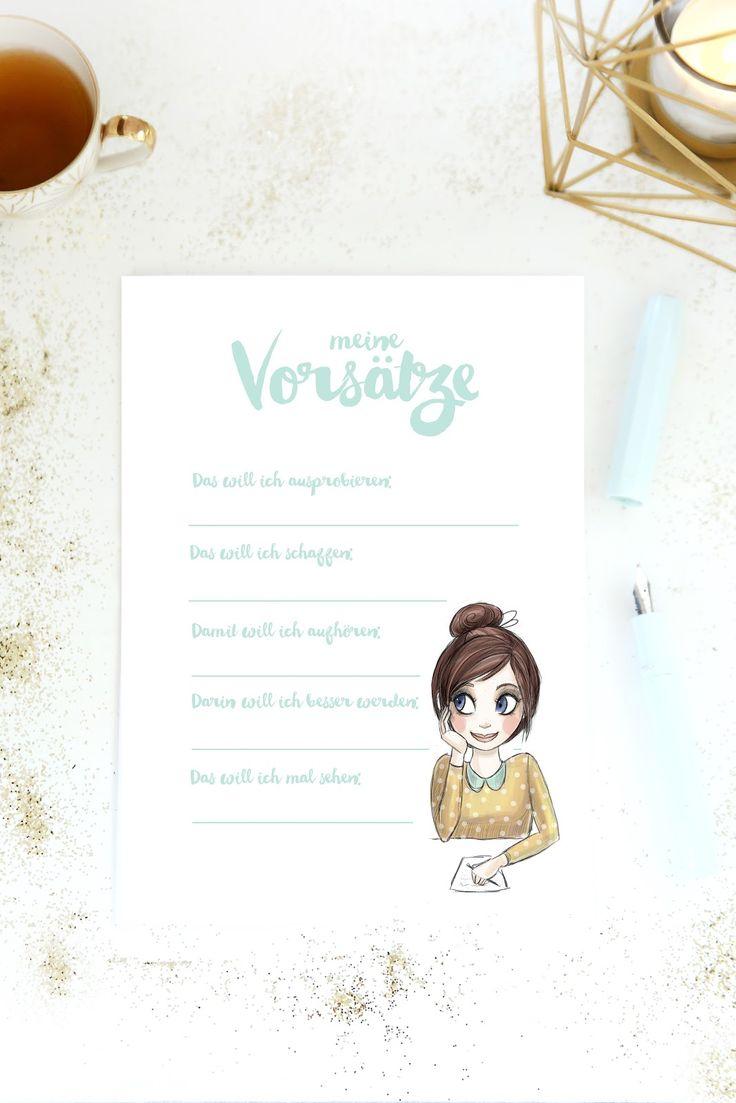 mein feenstaub – DIY, Deko, Design: {Printable für euch} Vorsätze fürs neue Jahr