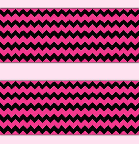 HOT PINK CHEVRON Wallpaper Border Wall Art Decal Teen Girls Room Stickers Decor Baby Nursery Zig Zag Zigzag Pattern Design #decampstudios