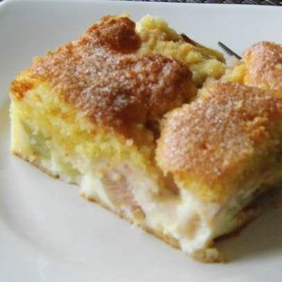 Rezept Rhabarberkuchen mit Puddingcreme von erikay - Rezept der Kategorie Backen süß