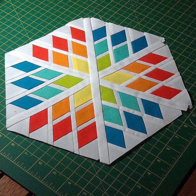 Snowflake Block tutorial by SelDear, via Flickr