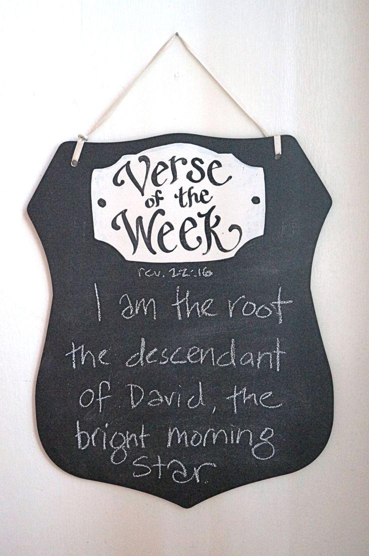 Shield of Faith Verse of the Week Chalkboard by kijsa on Etsy, $24.00