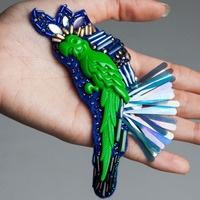 People of Tastes: Global  LUMINIS MAZOTA   #brooch  #mazota  #luminis  #acc  #peopleoftastes #green #parrot