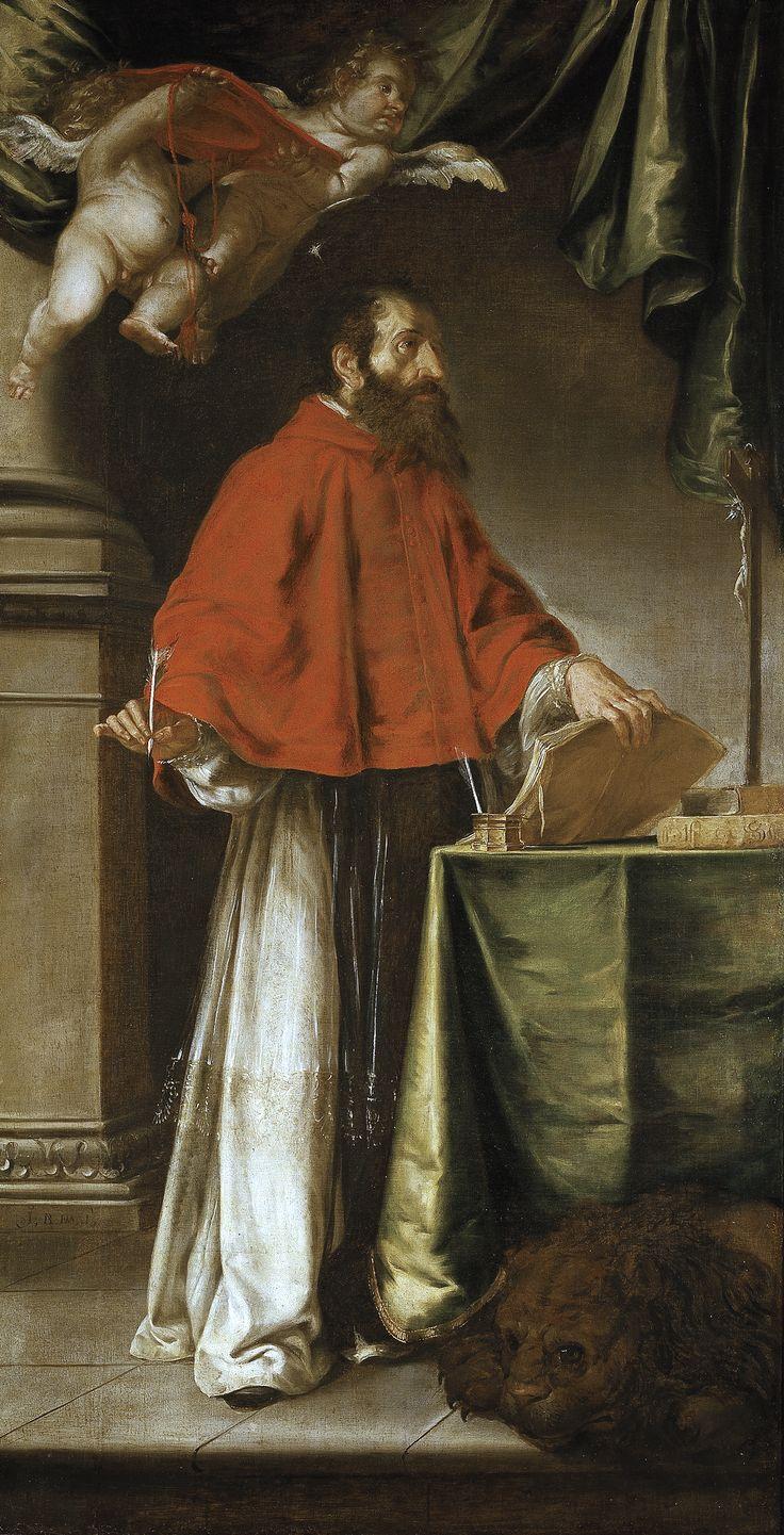 """Juan de Valdés Leal, """"San Jerónimo"""",óleo sobre lienzo, 252 x 133 cm. Museo del Prado (Madrid, España). 1656-1657 🎨🎨🎨"""