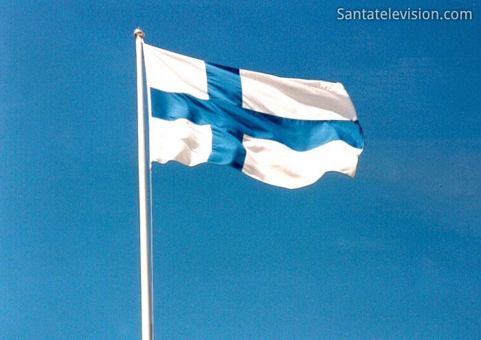 Flag of Finland - Rovaniemi is the capital of Lapland. Lapland is the northernmost region of Finland and of the European Union