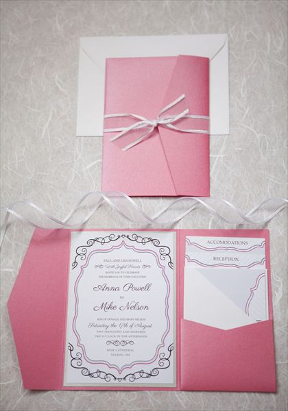 Brittney is doing my invitations, the idea is similar to this one.  :)