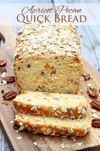 Apricot Pecan Quick Bread  on MyRecipeMagic.comFresh apricots and pecans come together in a delicious quick bread, perfect for breakfast or snacking.
