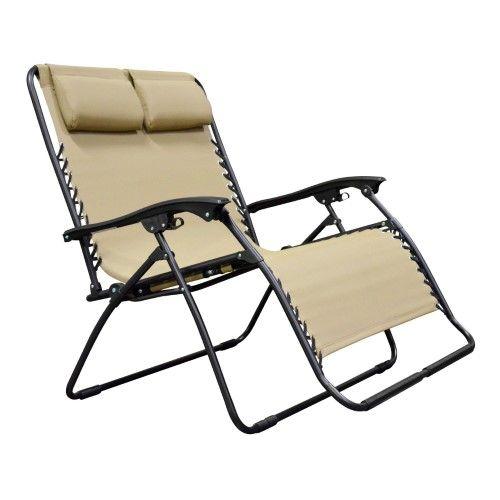 Caravan Sports Zero Gravity Chair Loveseat Beige