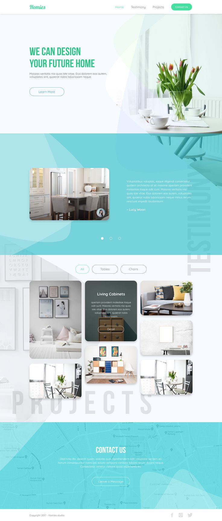 Landing page desain for home design agency