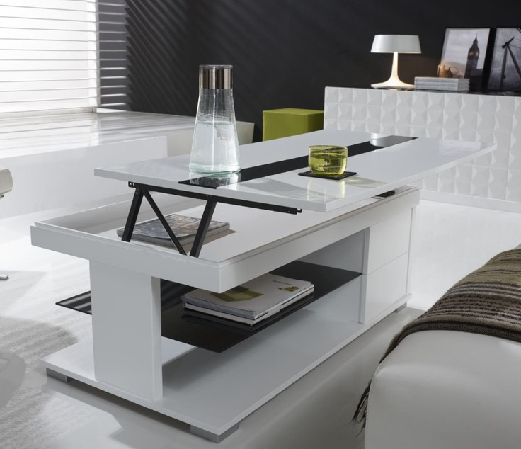 The 25 best ideas about table basse relevable extensible - Table basse blanche relevable ...