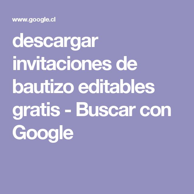 descargar invitaciones de bautizo editables gratis - Buscar con Google