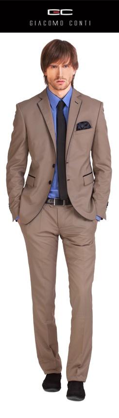 Beżowy garnitur Giacomo Conti #giacomoconti