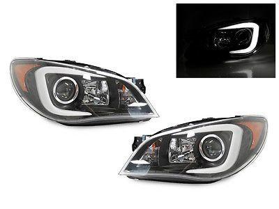 WRX Look C LED Light Bar JDM Black Projector Headlight 06-07 Subaru Impreza in eBay Motors, Parts & Accessories, Car & Truck Parts, Lighting & Lamps, Headlights | eBay