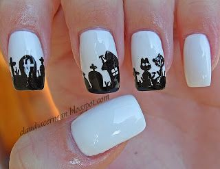 Unghii de Halloween - Halloween Nails - Nails Art Tutorials