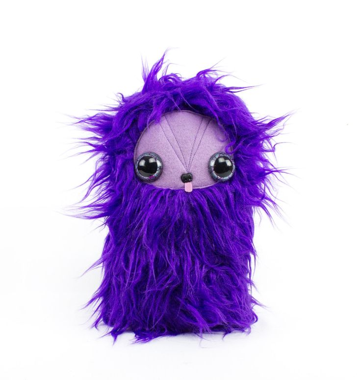 Purple on Purple with Tongue Cool Critter Pillow Plush by CoolCritters on Etsy