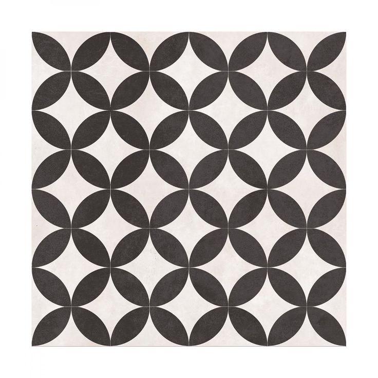 Feature Floors Bertie Black & White Matt Wall & Floor | British Ceramic Tile