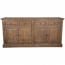 Oak Sideboard with Four Drawers and Doors