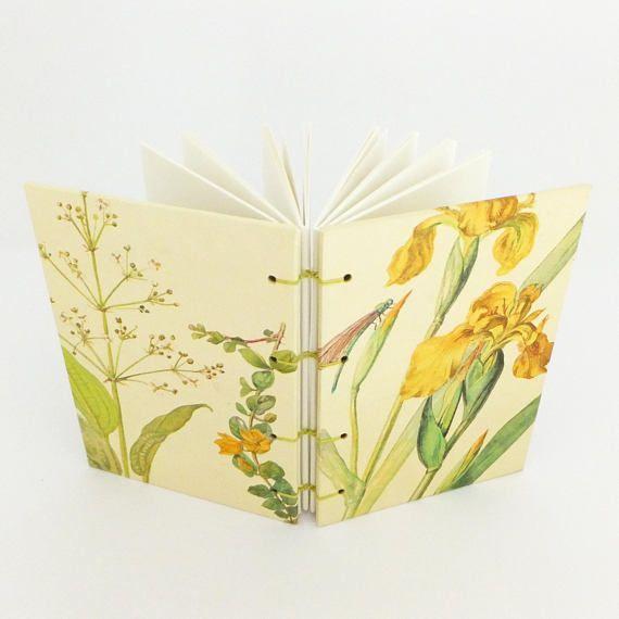Summer Journal Botanical Notebook Blank Notebook Yellow