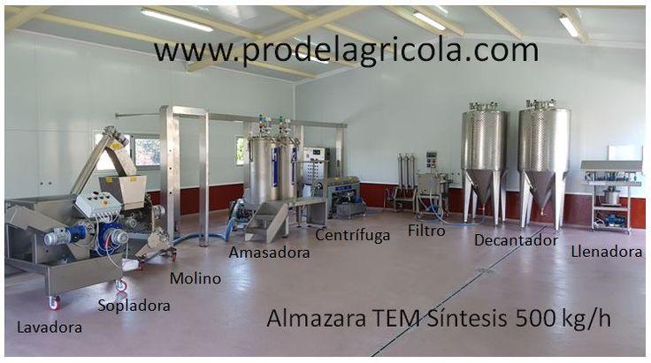 Instalación Almazara Síntesis 500 kg/h