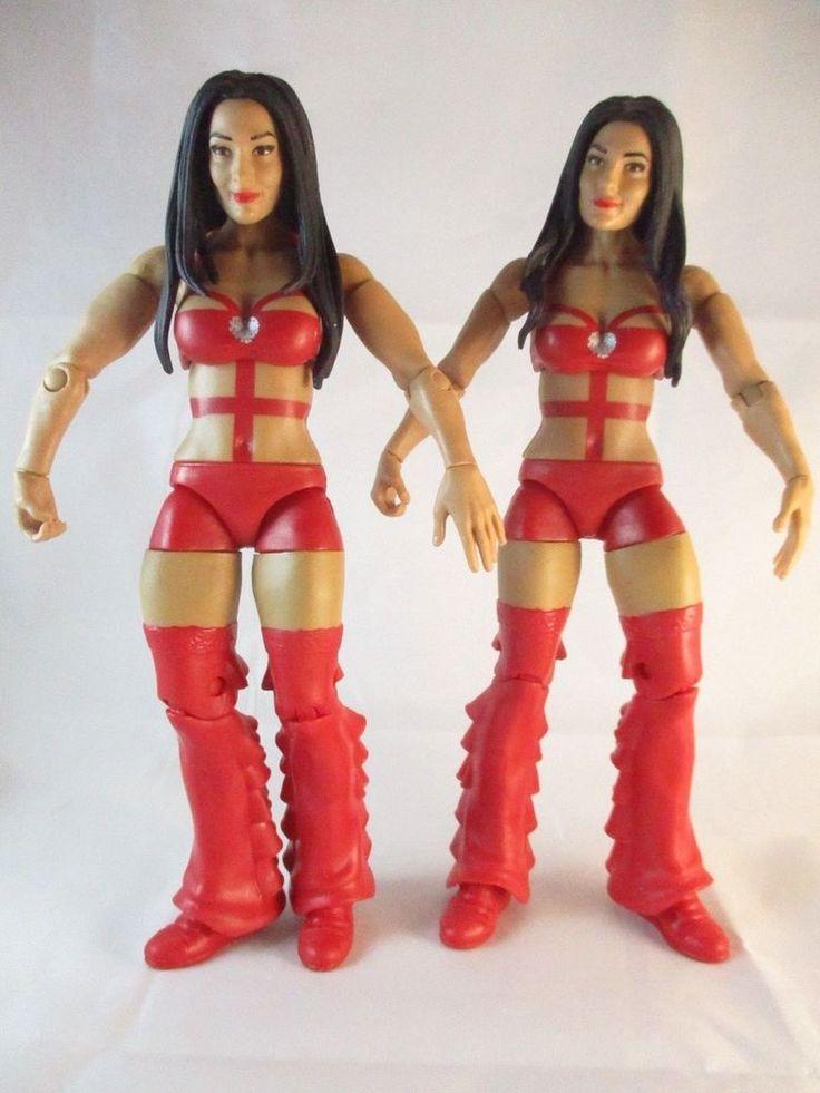 WWE Battle Pack Series 26 Nikki Bella Brie Bella Diva Wrestling Action Figures #Mattel