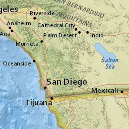 Today's Earthquakes in Southern California