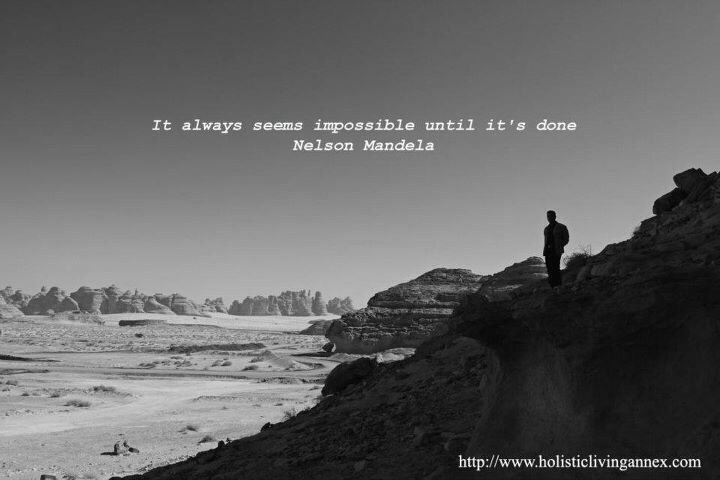 It always seems impossible until done