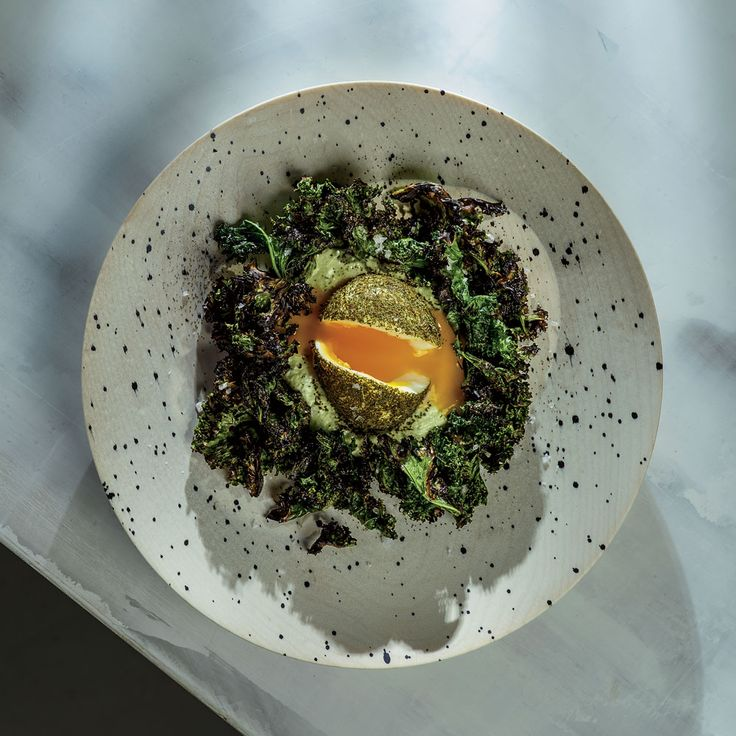 Green Eggs with Whipped Goat Cheese and Grilled Kale | Food & Wine