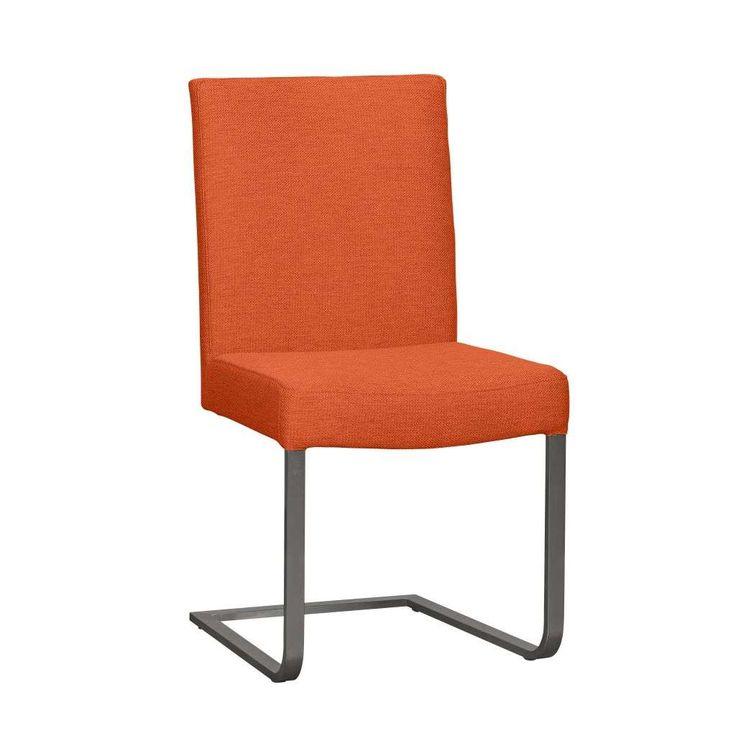 Woonexpress   stoel TEGELEN   trendkleur oranje