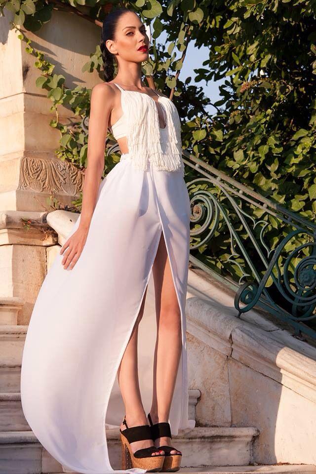 Top & Skirt by Vassilis Thom Photographer: Konstantinos Pafilas   Blogger/Model: Konstantina Tzagaraki from Serial Klother