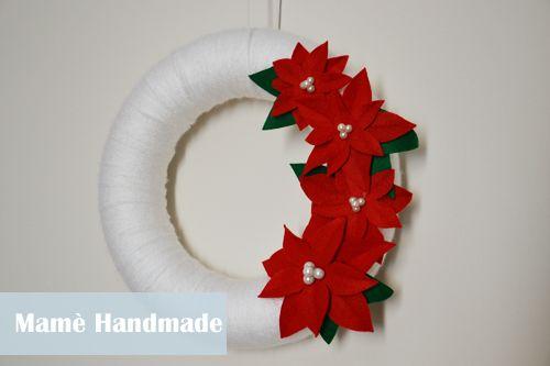 Mamè Handmade: DIY for Christmas: Ghirlanda in lana e feltro con stelle di Natale