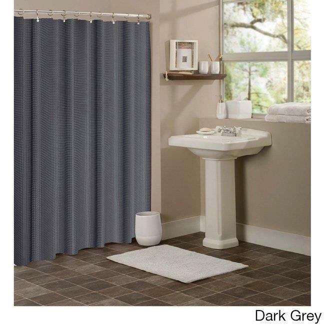 Hotel Collection Waffle Dark Gray 72 X 72 Shower Curtain At
