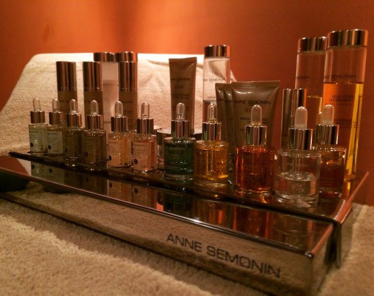 "Anne Semonin's tray for fully ""sur mesure"" treatments at Horizon Blu #Spa in #kalamata #peloponnese"