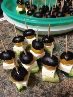 Living My Charmed Life: Greek Salad Hors d'oeuvres --Healthy and Simple Party Food