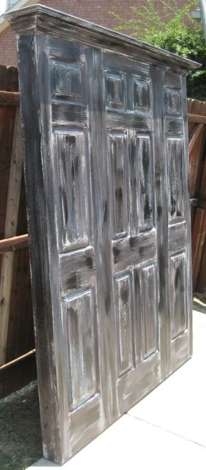 old doors made into headboards for king bed | king size headboard painted satin onyx black by Vintage Headboards ...
