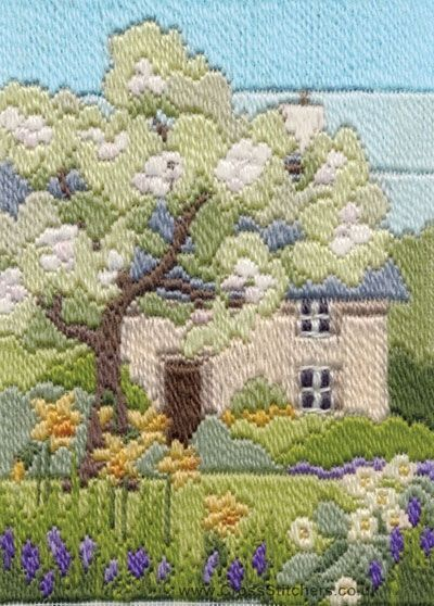 Spring Garden Long Stitch Kit by Derwentwater Designs from the range 'Seasons in Long Stitch' designed by Rose Swalwell.: