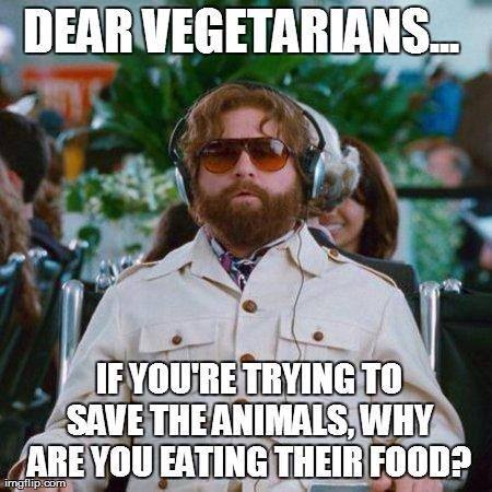LOL my sister in law is a vegetarian....so funny.