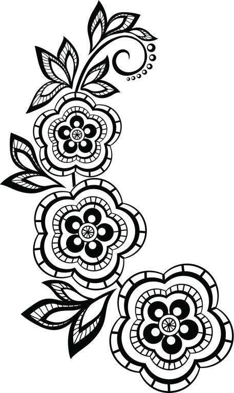 Pantillas De Tatuajes De Henna Cuerpo Y Arte Flower
