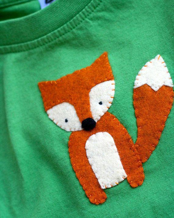 Fox Shirt Woodland Animal TShirt / Baby van KappamakiDesign op Etsy