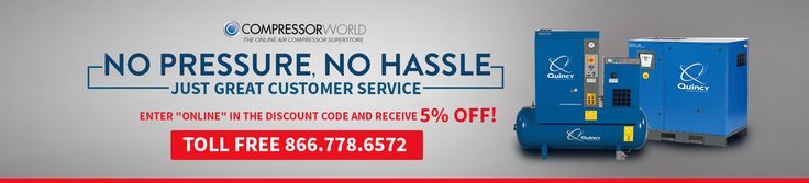 Purchasing a rotary air compressor couldn't be any easier than it is today with Compressor World. To learn more, explore:  http://www.compressorworld.com/air-compressors/rotary-screw-air-compressors/