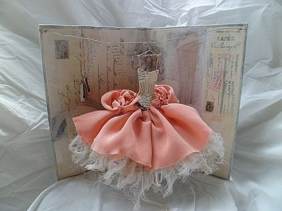 Assemblage Art Dress    A Stolen Moment by MesssieJessie on Etsy, £68.50