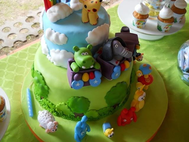 más detalles de la torta temática con Baby TV
