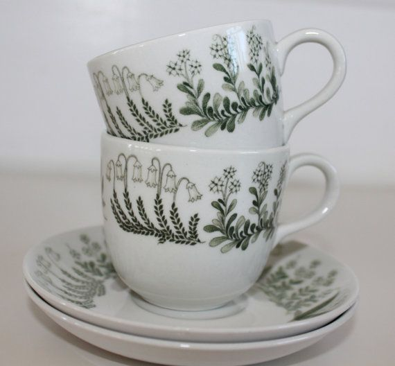 Pair of Polaris coffee cups by Arabia Finland by FinnishTreasures
