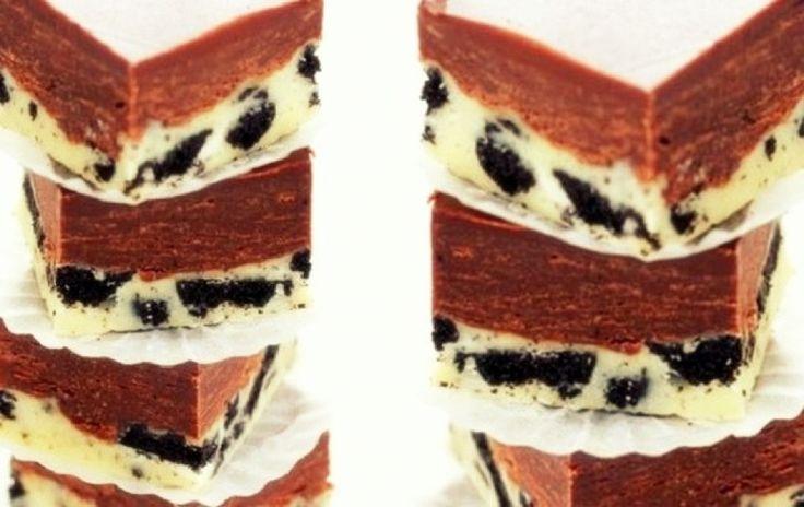 Το πιο εύκολο γλυκό με διπλή σοκολάτα & μπισκότα σε 15΄