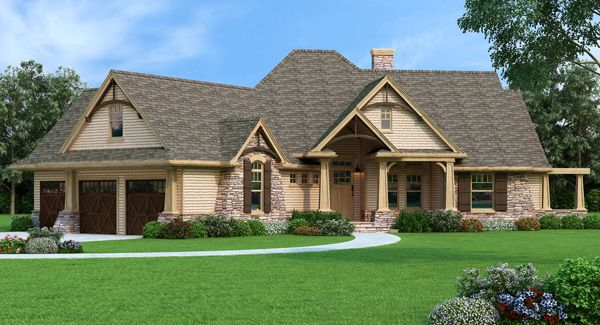 Vita di Lusso 7878 - 3 Bedrooms and 2 Baths   The House Designers  -  https://www.thehousedesigners.com/plan/vita-di-lusso-7878/